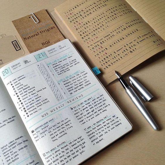 Idée bullet journal week end