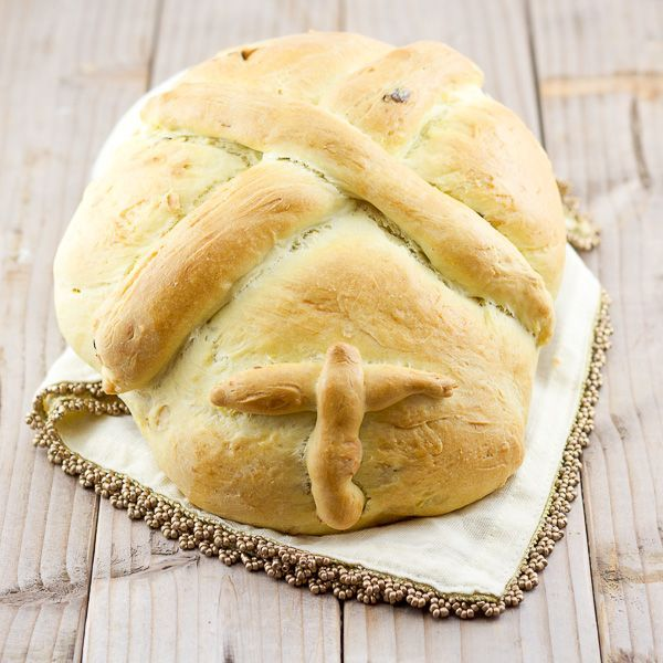 Mom Approved.  I used dates instead of raisins- Dec. 2014-pb This Greek Christmas bread is a staple tradition in Greece. It's an easy bread recipe with a big cultural significance. Made with almonds and raisins, it's slightly sweet and soft.