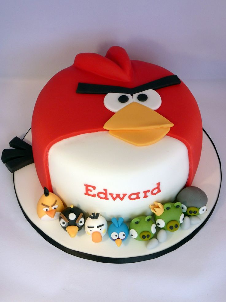 16 best images about angry birds on pinterest birthday for Angry birds cake decoration