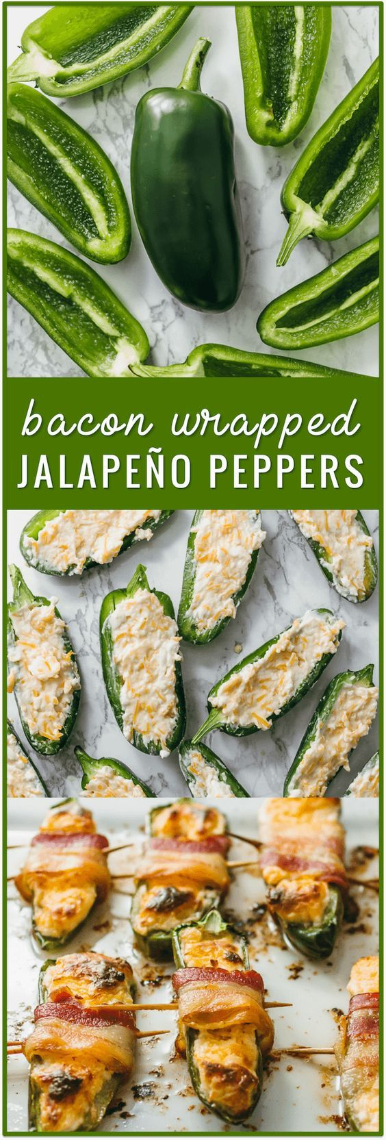bacon wrapped jalapeño peppers, baked jalapeno poppers, cream cheese jalapeno poppers, fried jalapeno poppers, cream cheese stuffed jalapenos, recipe, grilled, dip, with sausage, easy, simple, fast, wrapped in bacon, biscuits, healthy, chicken via @savory_tooth, keto, low carb, ketogenic diet