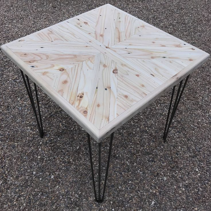 Pallet Wood X Pattern Dining Table 2