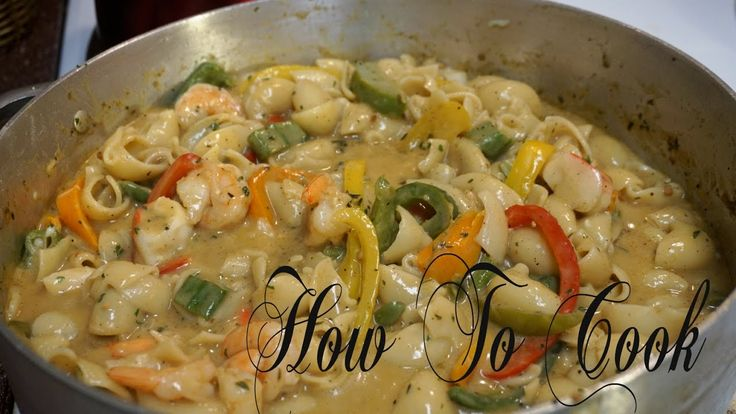 HOW TO MAKE JAMAICAN STYLE RASTA PASTA WITH COCONUT MILK & SEAFOOD RECIP...