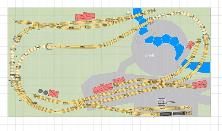 Märklin Gleisplan: Große C-Gleis Radien auf unter 4qm - H0 Modelleisenbahn