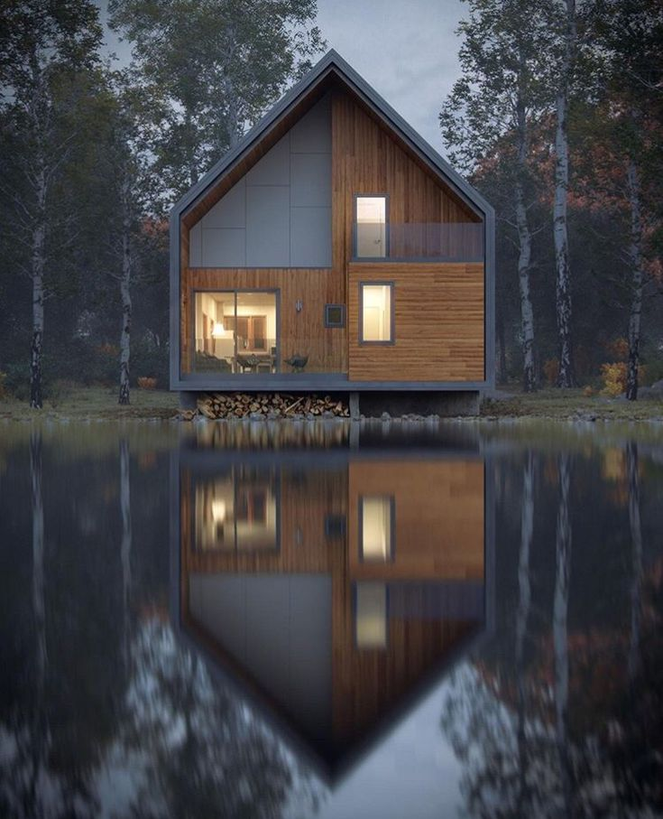 What do you think of this modern twist on a traditional cabin? Sharing via d.designers