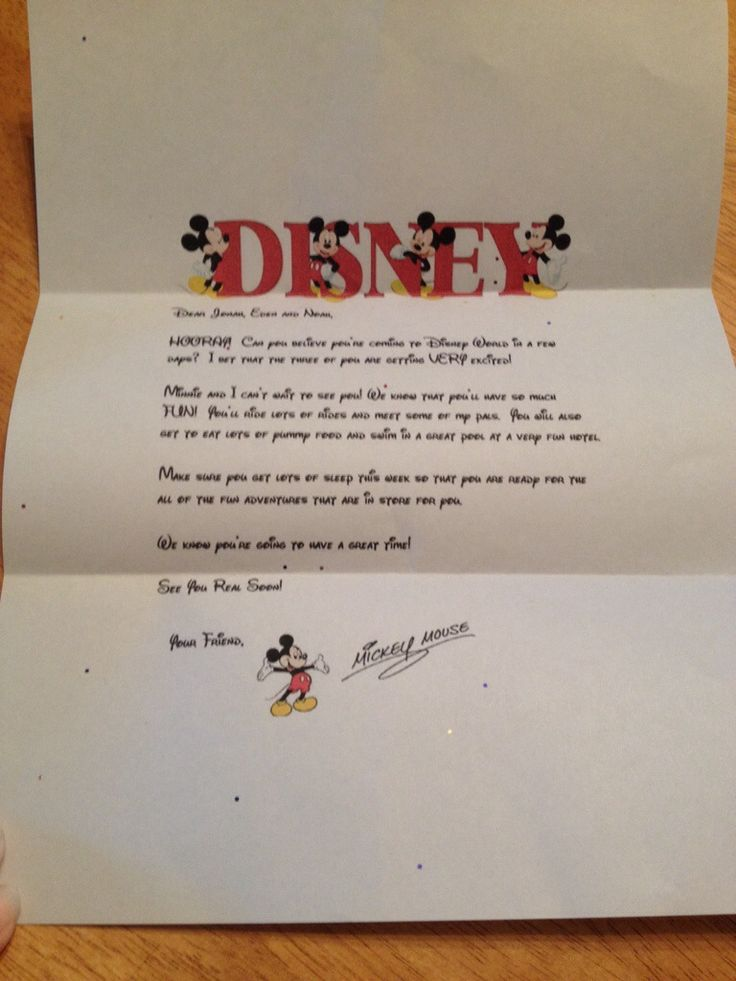 How to have Mickey Mouse send a letter to your kids before you Disney vacation