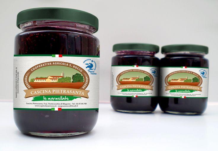 Etichetta per marmellate  – Cascina Pietrasanta, Pontevecchio di Magenta  #marmelade #marmellata #label #etichette #nonna #cascinapietrasanta #graphic #design #grafica #nordcapstudio