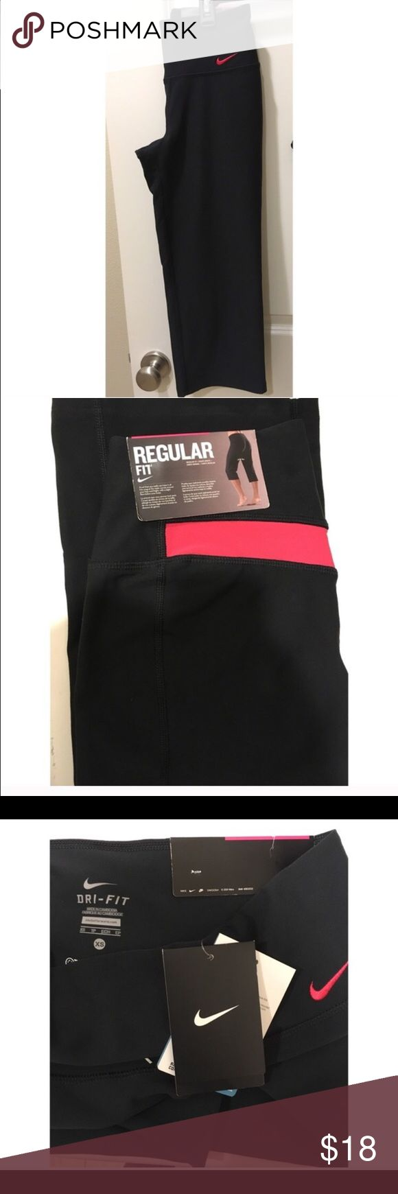 Nike Capri workout pants Brand new Nike Capri with red trimming Nike Pants Ankle & Cropped