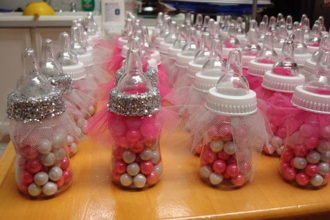Tutu Baby Bottle Favors; Fancy Baby Shower Favors; Ballerina Theme Shower; Princess Themed Shower; Table Decorations; Fancy Favors for Guest by trishah55 on Etsy