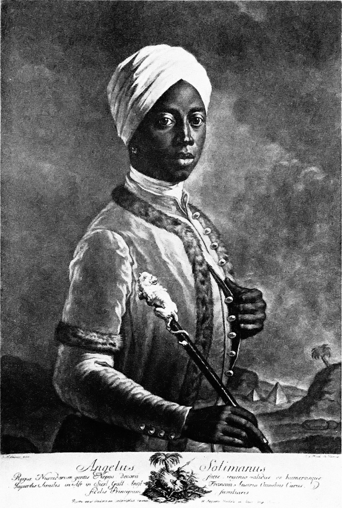 "Angelo Soliman - born a slave; friend of Austrian Emperor Joseph II and member of Masonic lodge ""True Harmony"" in Vienna.  Learn about him at Mozarthaus in Vienna."
