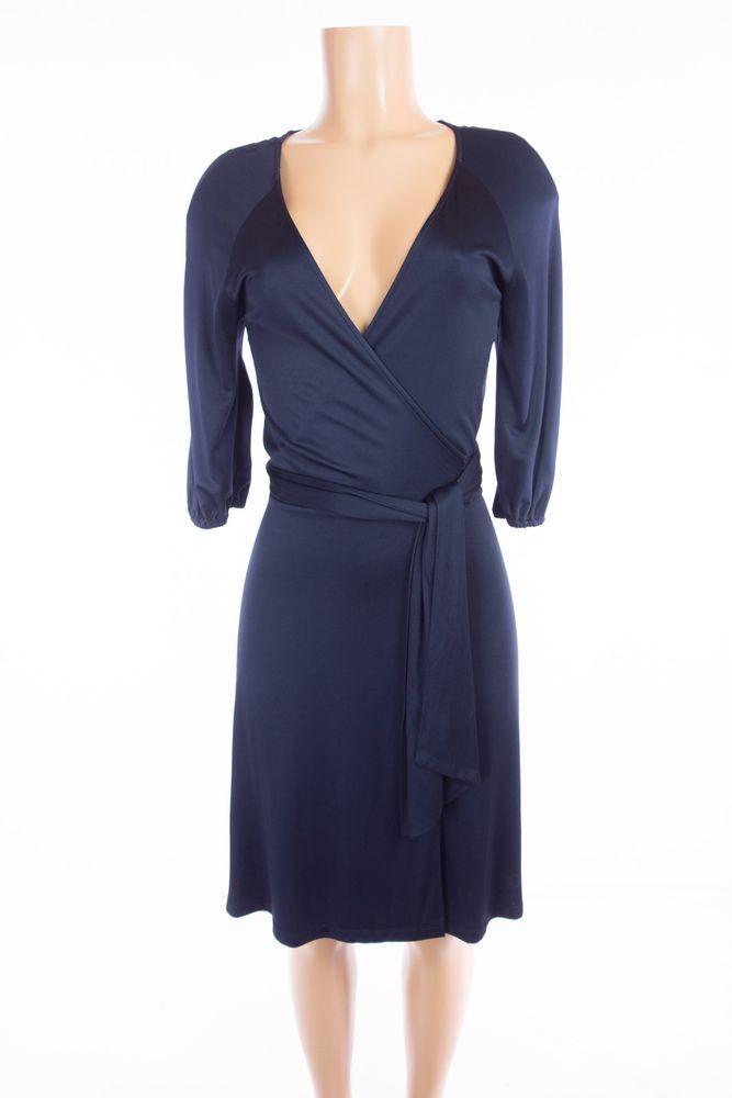 9dad7f6e DIANE VON FURSTENBERG Vintage Andrina Wrap Dress 10 M Blue Jersey Knit DVF # DVF #WrapDress #Work