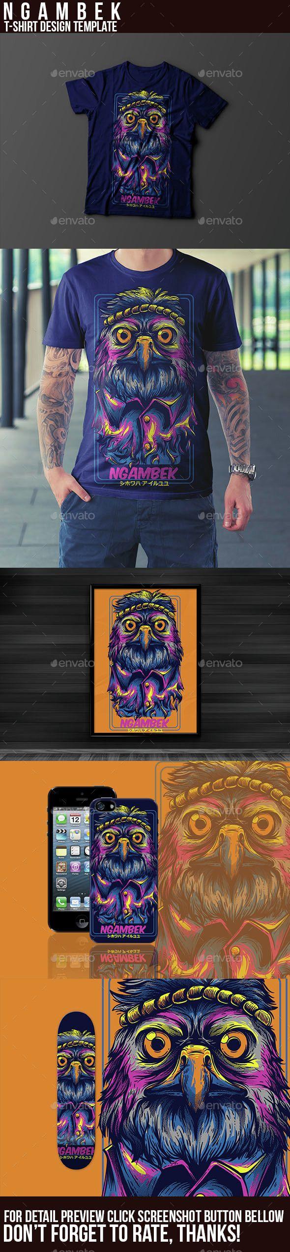 Shirt design illustrator template - Ngambek T Shirt Design