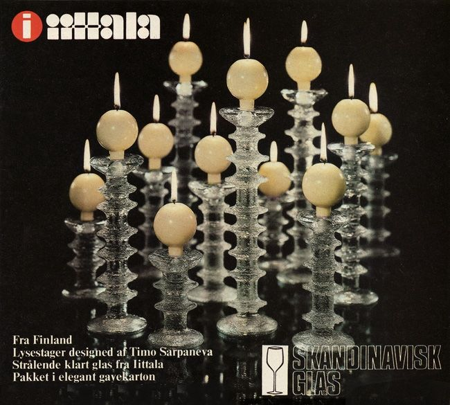 """Festivo"" candle sticks by Timo Sarpaneva for Iittala, Finland 1966"