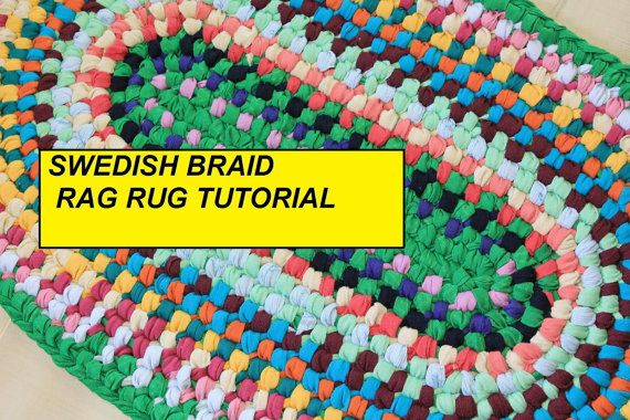 PDF Tutorial Swedish Braid Rag Rug DIY Rag Rug por RagRugRoad