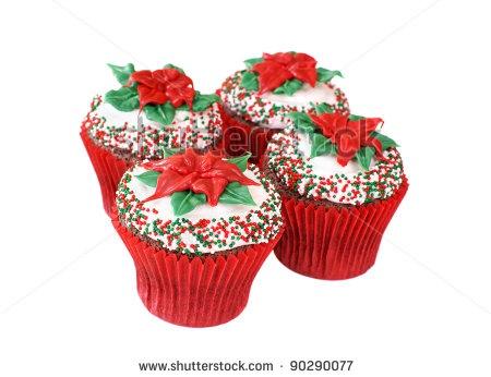 stock-photo-christmas-decorated-cupcakes-90290077.jpg (450×346)