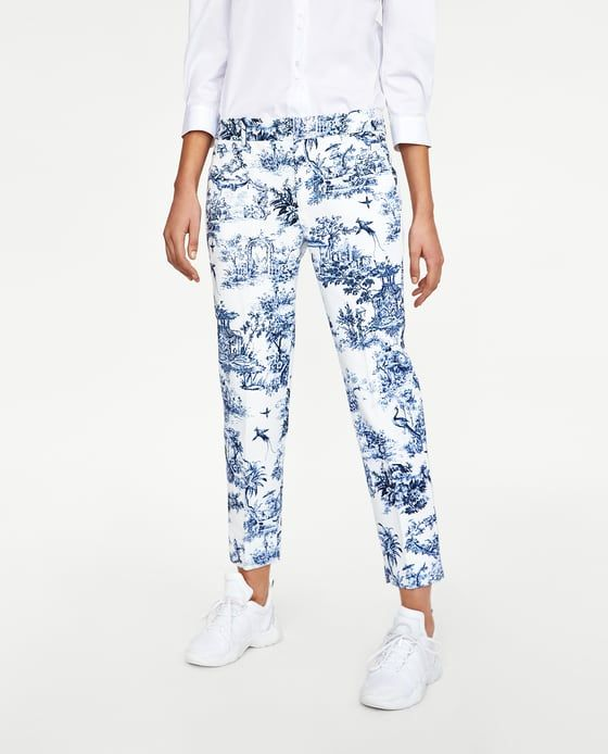 121086c8 Image 2 of TWO-TONE PRINTED TROUSERS from Zara | CHINOISERIE COUTURE ...
