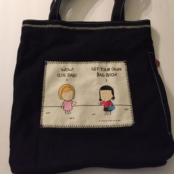 Angry little girls tote bag Black angry little girls tote bag. Angry Little Girls Bags Totes