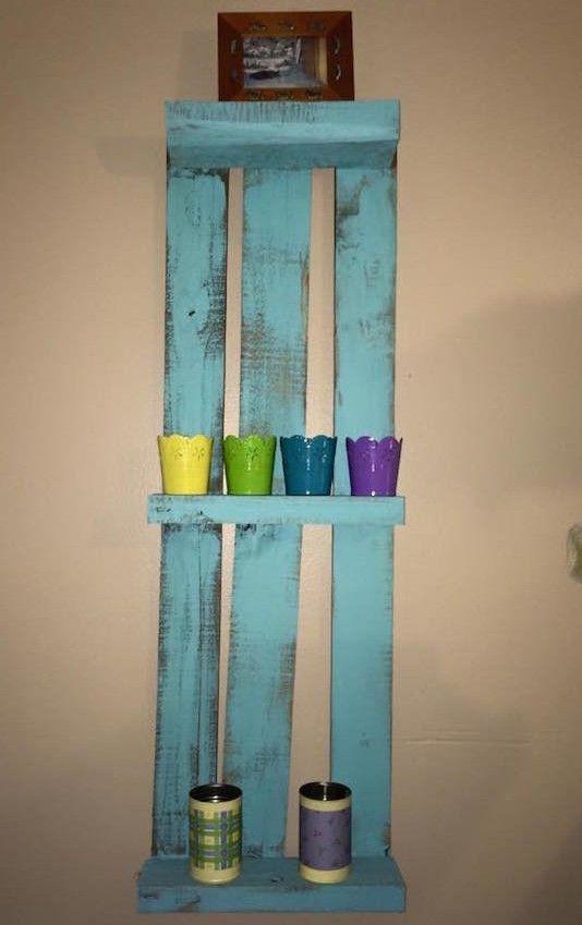 20 best pallet shelves images on Pinterest Pallet furniture - peinture bio pas cher