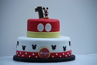 cute, simple mickey mouse cake