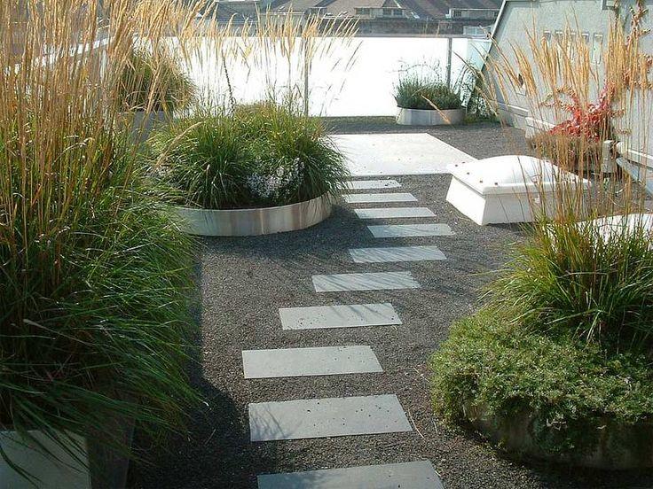 3 0 landschaftsarchitektur kiesgarten am dach garten for Moderner kiesgarten