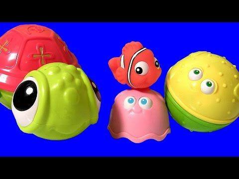 Disney Finding Nemo Stacking Cups Surprise Eggs! Disney Frozen Toys 2 Chupa Chups Masha Bear Fashems - YouTube