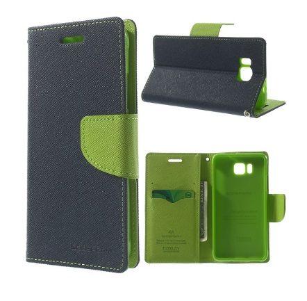 Mercury Case Θήκη Πορτοφόλι Μπλε (Samsung Galaxy Alpha G850F) - myThiki.gr - Θήκες Κινητών-Αξεσουάρ για Smartphones και Tablets - Χρώμα μπλε με πράσινη δέστρα