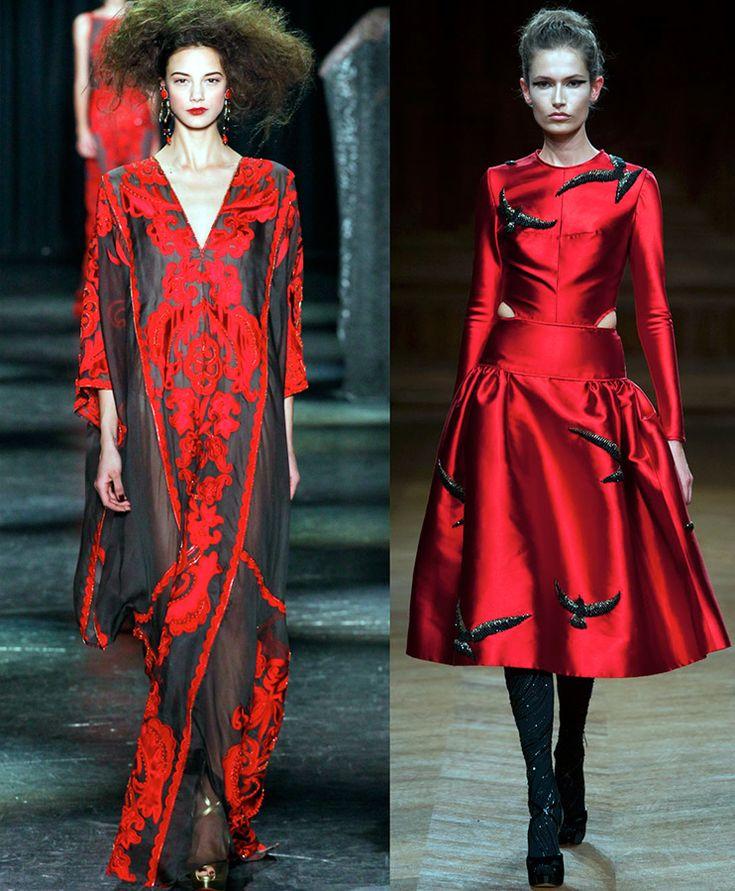 Красное и красно-черное платье – фото образов в стиле Элизабет Батори