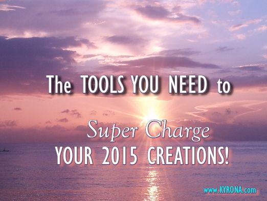 "Kyrona shares vital & empowering information, ""SUPER-CHARGED"" tips & healing tools, to support you to make the most of 2015, by consciously seeding your dreams, your intentions for 2015 powerfully & well! Free Gifts Galore! #2015, #NewYear2015, #co-create, #manifestation, #lightlanguage, #Make2015YourGreatestYearEver"