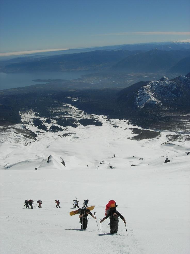 Ascending Volcan Villarrica