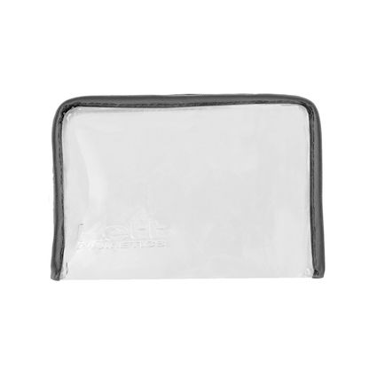 The KETT Large Makeup Bag is a flat bottom design cosmetic bag constructed of PVC with a zipper closure. Perfectly sized to accommodate 35ml foundation bottles or personal makeup supplies.