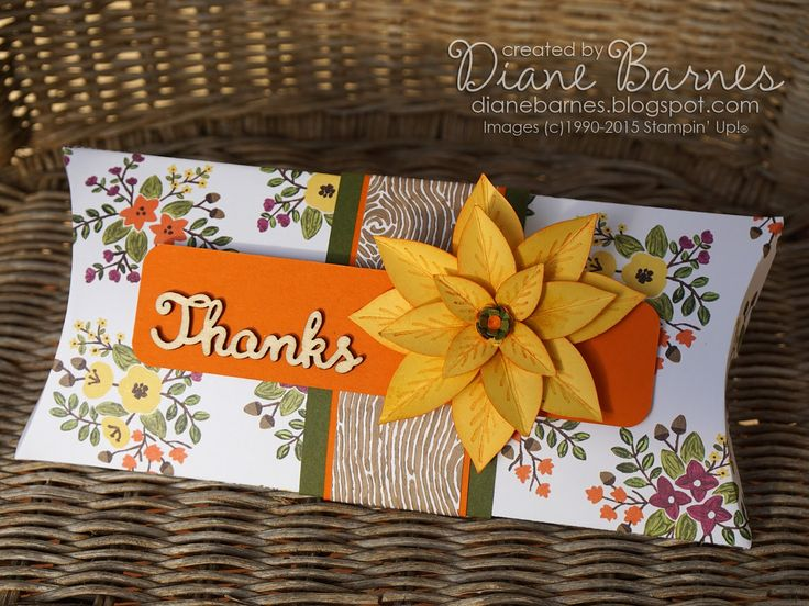 extra long pillow box with poinsettia flower tag (