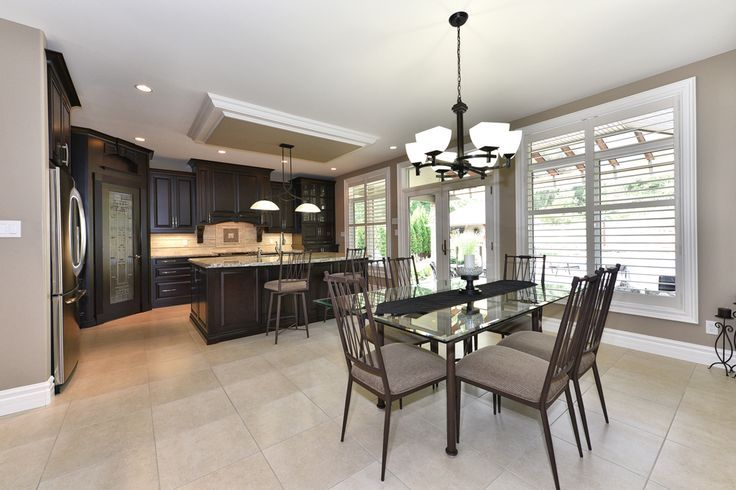 Kitchen & Dining Room #CustomHome #NewHome #Design #Architecture #Construction #LdnOnt