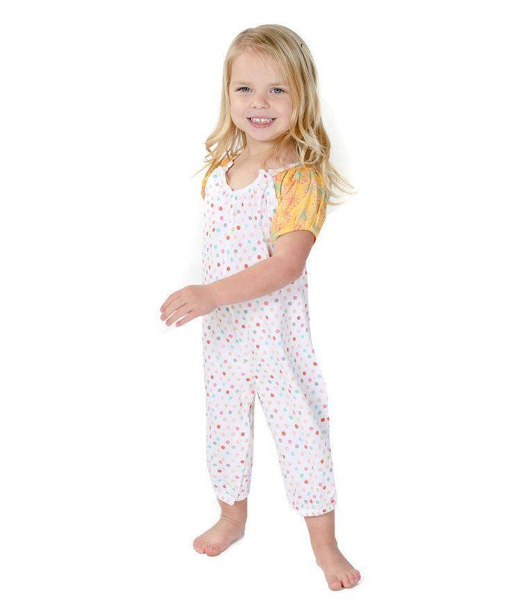 Jelly The Pug White Paris Polka Dot Sammy Playsuit - Baby Girls 6M, 9M #JellyThePug #Everyday