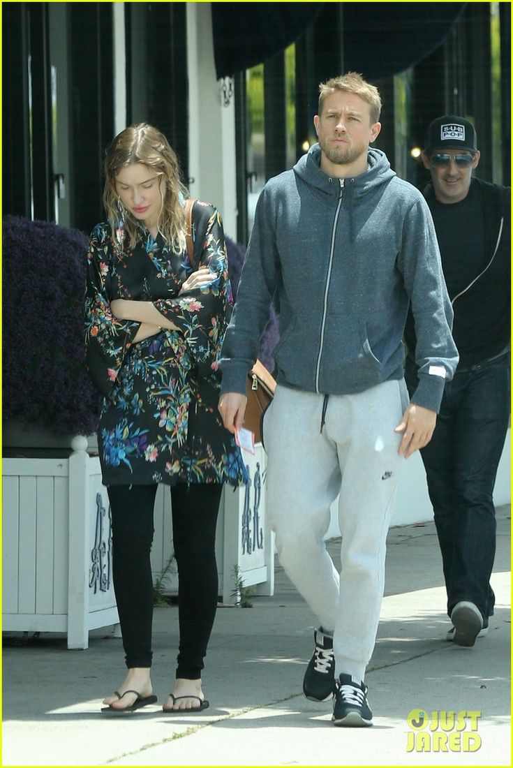 Charlie Hunnam Is All Smiles with Morgana McNelis at Lunch!