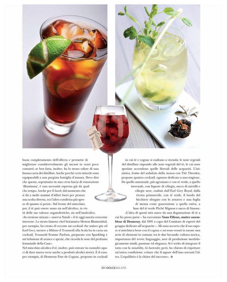 """""""Tè, vie inedite nel bere low alcol"""" In Dolce Salato, ottobre 2012, p. 32-33"""