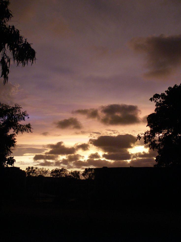 Sunset - The sun setting before a thunderstorm, Onslo, Western Australia.
