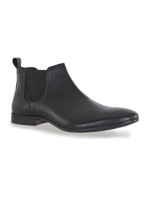 Black Leather Ankle Chelsea Boots - Boots - Shoes and Accessories - TOPMAN USA