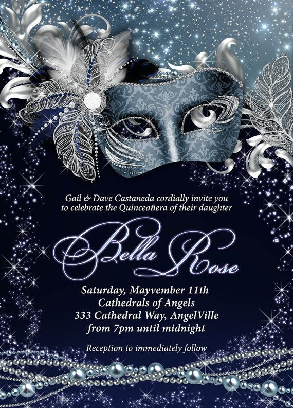 17 Best ideas about Masquerade Invitations on Pinterest ...