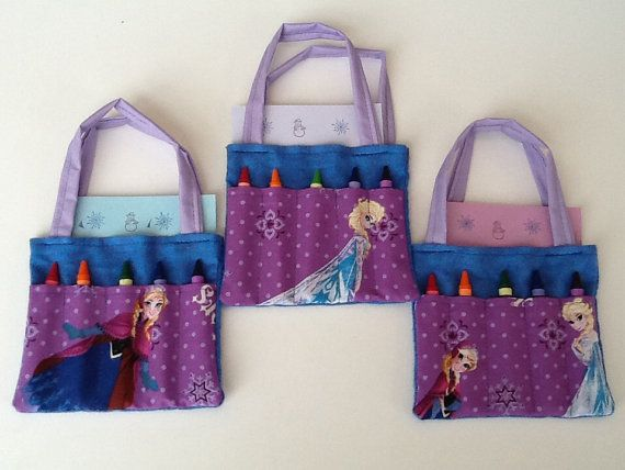 Frozen Children's Crayon Bag and by JustSomethingSpecial on Etsy, $5.00