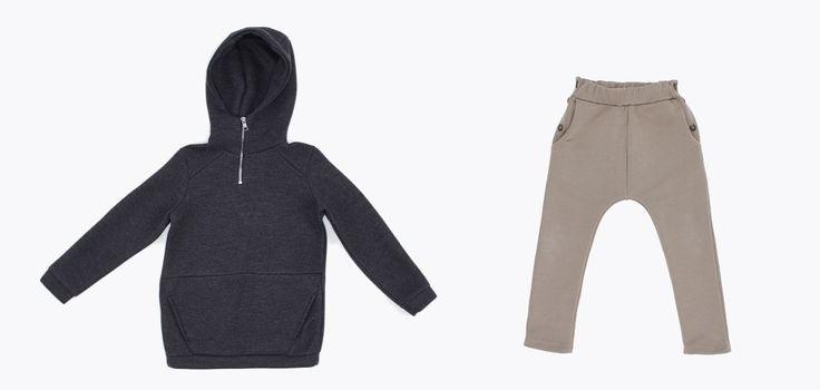 BW18302-10 Hooded fleece (neoprene) / Color charcoal grey UW18601-5 Pant sand color