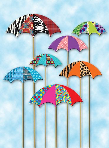 #umbrellas #scrapbook #embellishments . Bookmark | DIY | For Book | Marcador de Página
