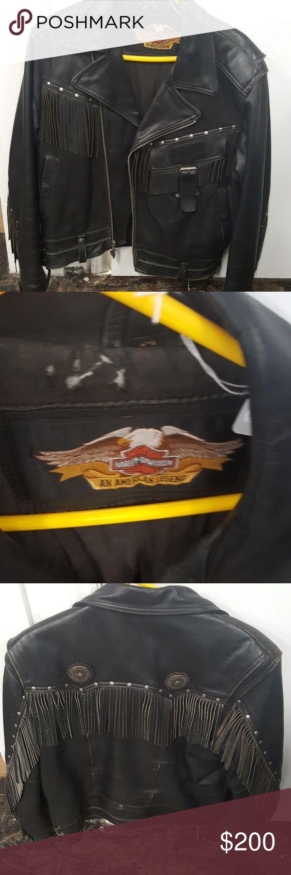 Vintage Harley Davidson leather jacket Men's sz medium Harley-Davidson Jackets & Coats