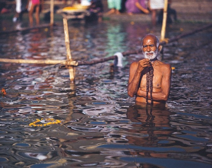 The Ghats of Varanasi lead to the holy water of the Ganges, believed to be both pure as well as purifying. #CoxandKings