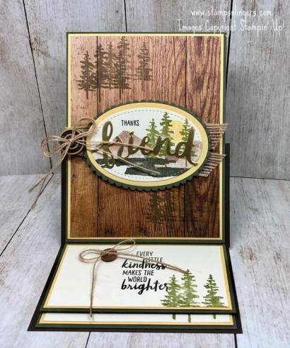 Stampin' Up! Waterfront Easel Fun-Fold Card | Stamps – n - Lingers