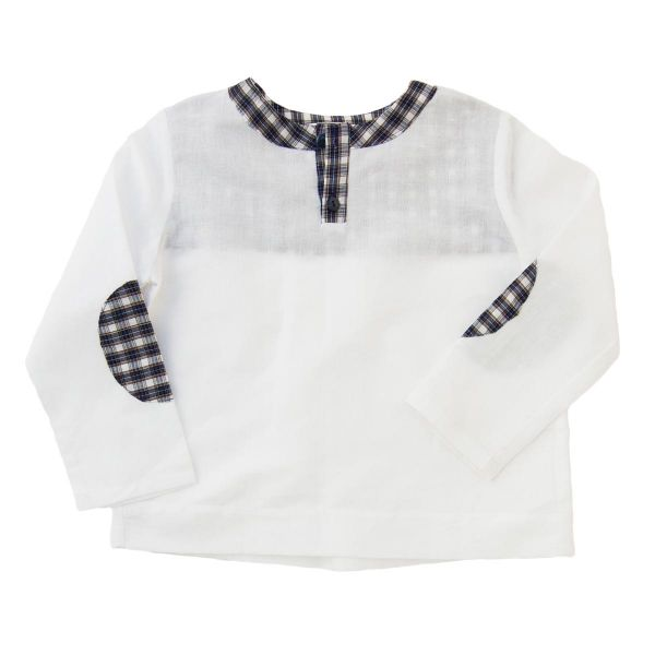 Mákvirág — Checked linen boy shirt