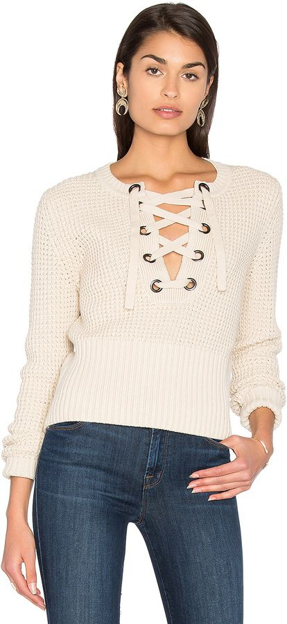 Lace Front Sweater in Light Gray 525 america Nicekicks For Sale Cheap Official Clearance Store Cheap Price Buy Cheap Clearance Store Clearance High Quality HjofI6Sz3k