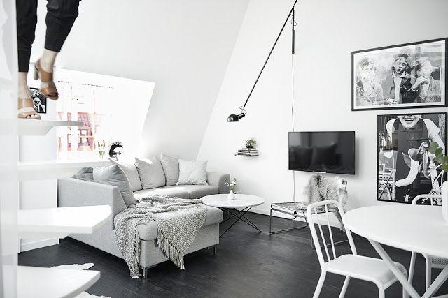 Blog wnętrzarski - design, nowoczesne projekty wnętrz: Skandynawskie mieszkanie - 59m2