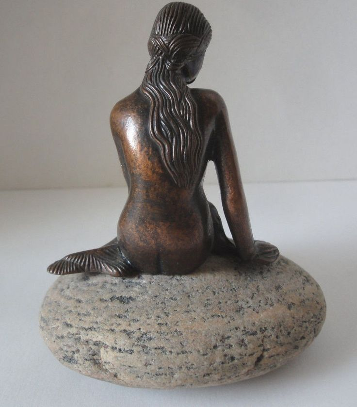 "Bronze Mermaid Stunning Bronze Mermaid Figurine  4-1/2"" x 4-1/2"""