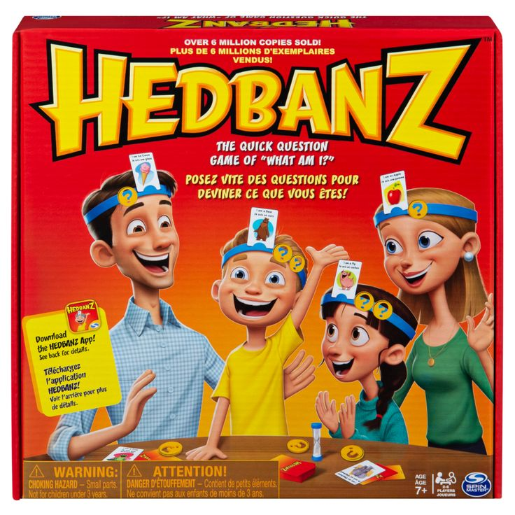 Hedbanz, Quick Question Family Guessing Game for Kids and