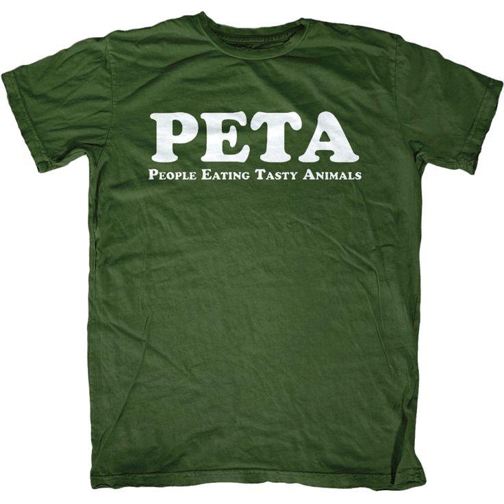 PETA T-Shirt | Shirts, People eating and PETA