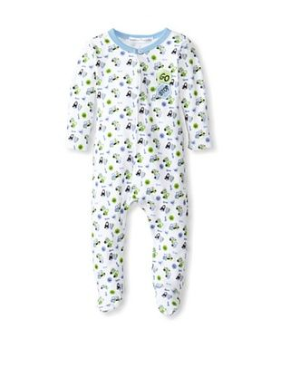 50% OFF Rumble Tumble Baby Stop Sign Longsleeve Coverall (White)